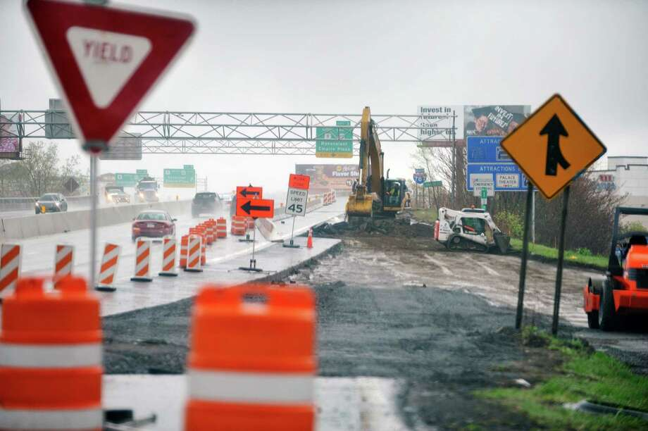 Construction work continues on Interstate 787 northbound, seen here on Tuesday, April 26, 2016, in Albany, N.Y.   (Paul Buckowski / Times Union) Photo: PAUL BUCKOWSKI / 10036350A