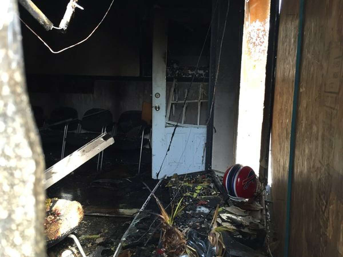 A look at some of the damage inside Heads Up Barber Shop at 518 Washington Ave., Albany, on Friday, May 27, 2016. (Jordan Carleo-Evangelist/Times Union)