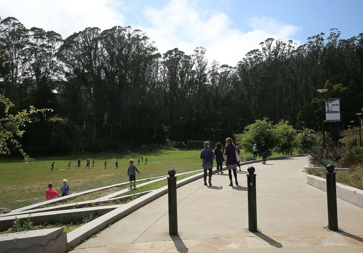 Entrance of Glen Canyon park heading to the recreation center on Wednesday, May 25, 2016 in San Francisco, Calif.
