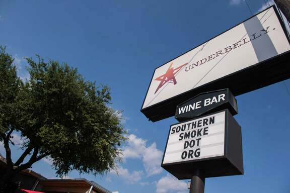 The sign in front of chef Chris Shepherd's Underbelly restaurant during 2015 Southern Smoke. The barbecue event will be held Nov. 6 at Underbelly, the Hay Merchant, and Blacksmith on Westheimer.