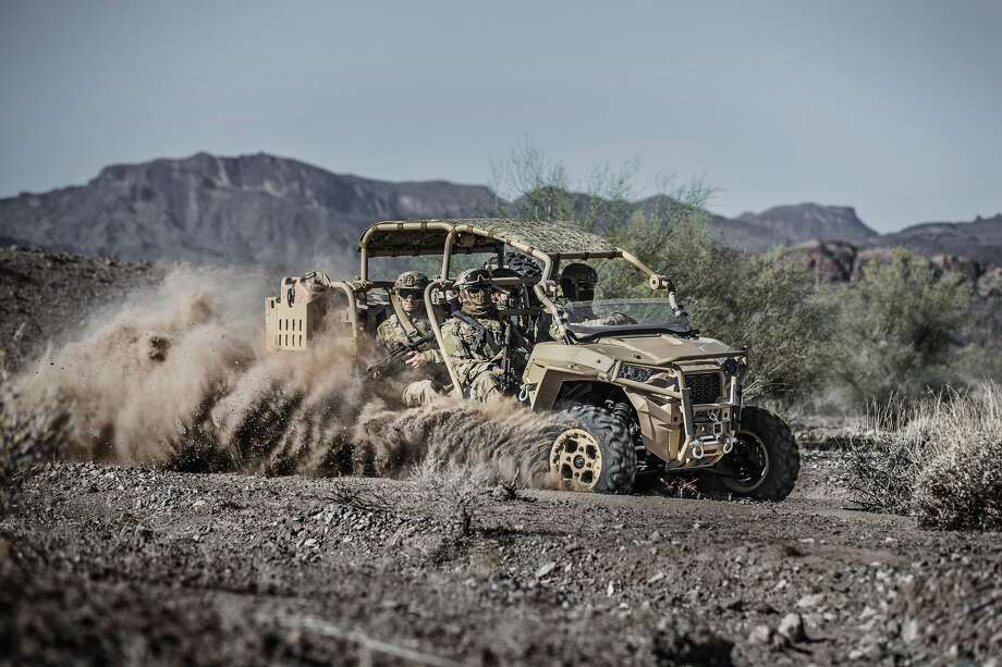 The new Polaris Defense MRZR-D4, a turbo diesel all-terrain vehicle designed for military applications. Photo: Polaris
