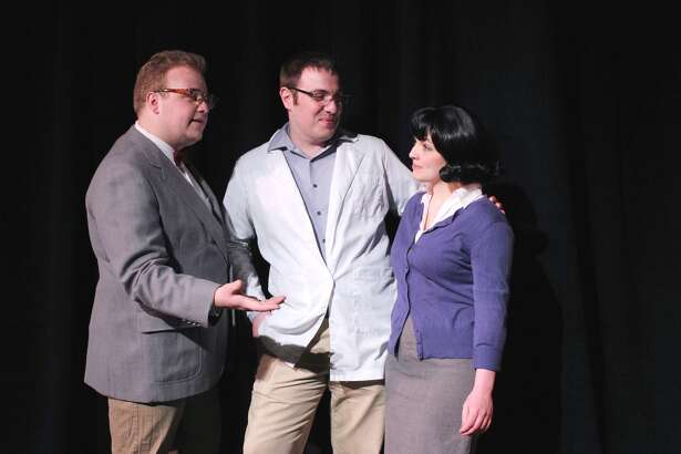 "From left, Matthew Casey, of Milford, Jim Norton, of Stratford, and Holly Fasciano, of Milford, are featured in ""The Heidi Chronicles"" June 3-19 at Milford's Eastbound Theatre."