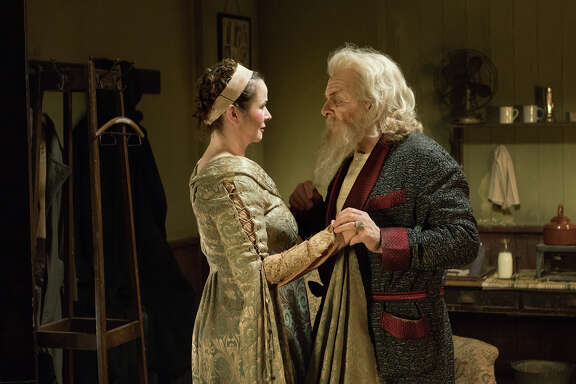 "Her Ladyship (Emily Watson), Sir (Anthony Hopkins) in ""The Dresser"""