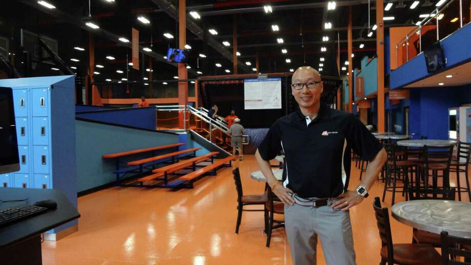 Sky Zone Norwalk owner Edward Kim on Friday, the day of the grand opening of his trampoline park in Norwalk. Kim's first Sky Zone in Bethel draws about 150,000 visitors annually. Photo: Alexander Soule / Hearst Connecticut Media / Stamford Advocate