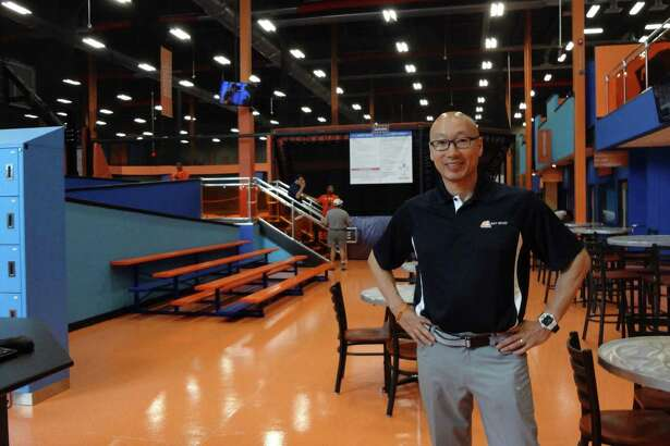 Sky Zone Norwalk owner Edward Kim on Friday, May 27, 2016, the day of the grand opening of his trampoline park in Norwalk, Conn. Kim's first Sky Zone in Bethel draws about 150,000 visitors annually.