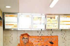 Mario Ramirez Bortolini, a 19-year-old soon-to-be graduate of James Madison High School, took his senior photos at a San Antonio Whataburger on May 21, 2016.