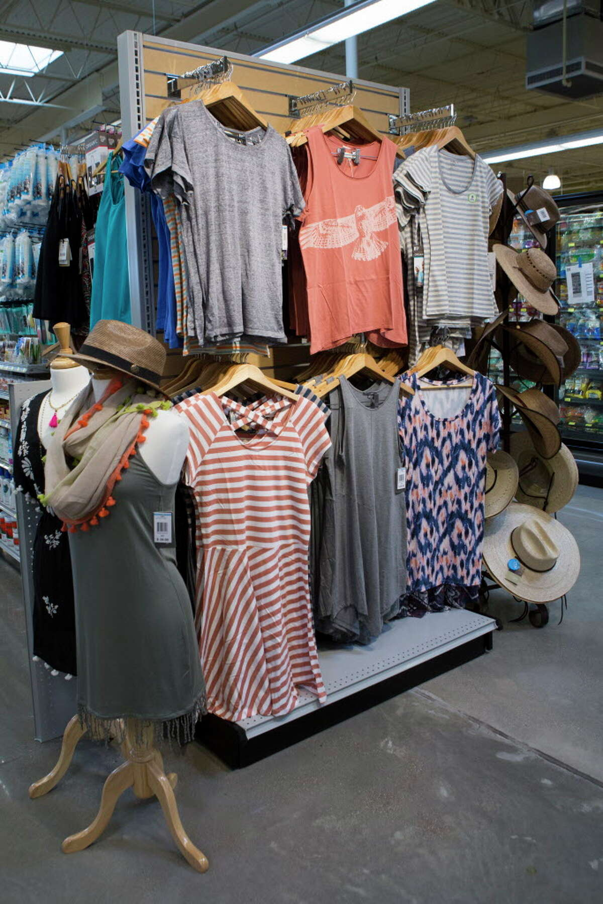 Whole Foods Market apparel section on the new Whole Foods Market located on 11041 Westheimer Road. Friday, May 27, 2016, in Houston.