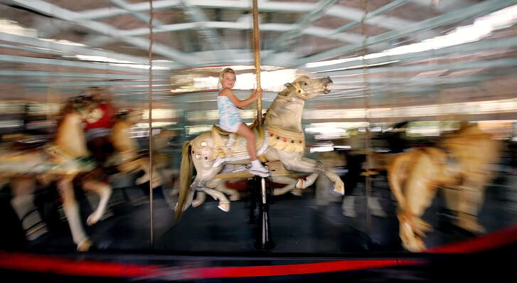 The carousel in New Orleans City Park was built in 1906.