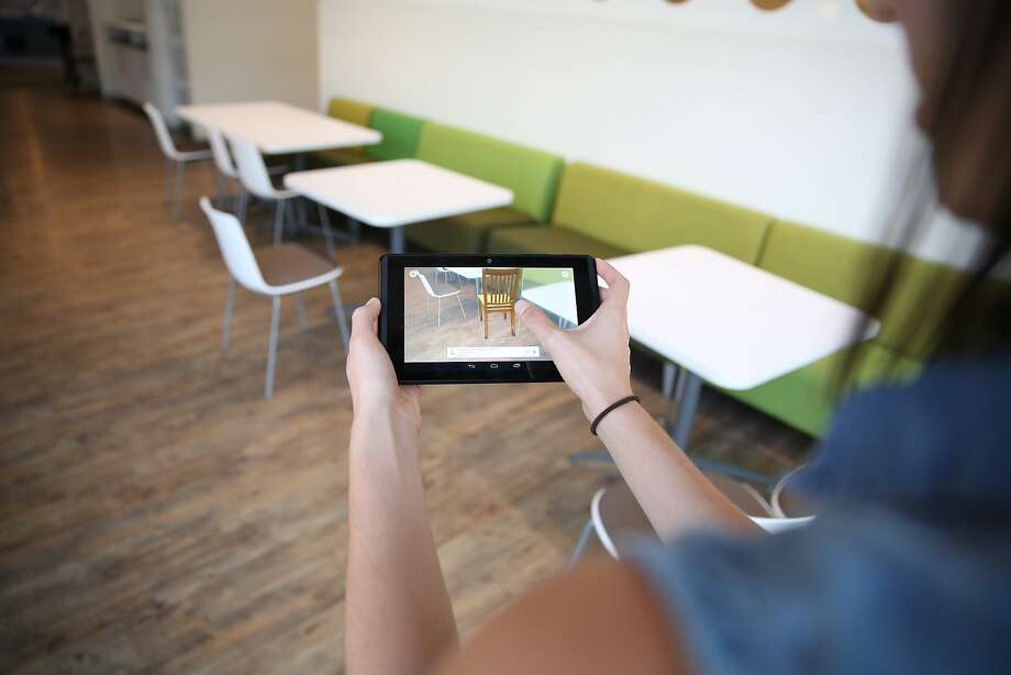 Wayfair is using Project Tango technology to let users place virtual versions of furniture the company offers for sale inside their 3-D maps. Photo: Wayfair