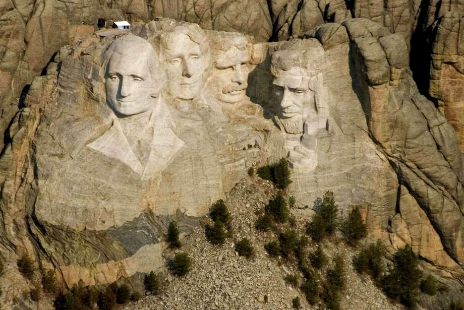 This April 22, 2008, file photo shows the Mount Rushmore National Memorial near Keystone, S.D. Photo: Mike Stewart, STF / AP2008