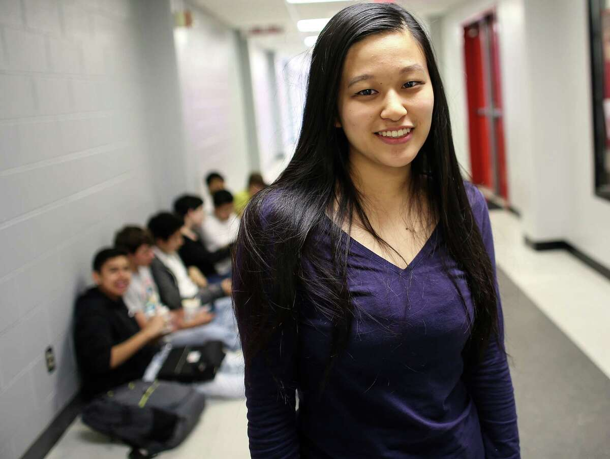 Bellaire High School senior Liana Wang, who will attend Yale University next year, is the first person in her family to go to college.