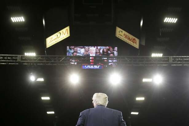 Republican presidential candidate Donald Trump speaks during a rally, Friday, May 27, 2016, in Fresno, Calif. (AP Photo/Chris Carlson)