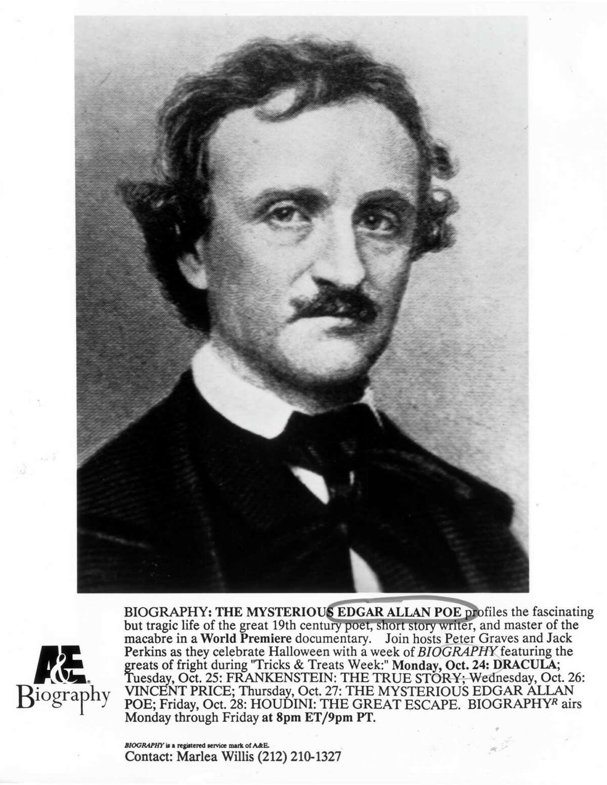 Benjamins Poe was the first American writer to make a living from writing.