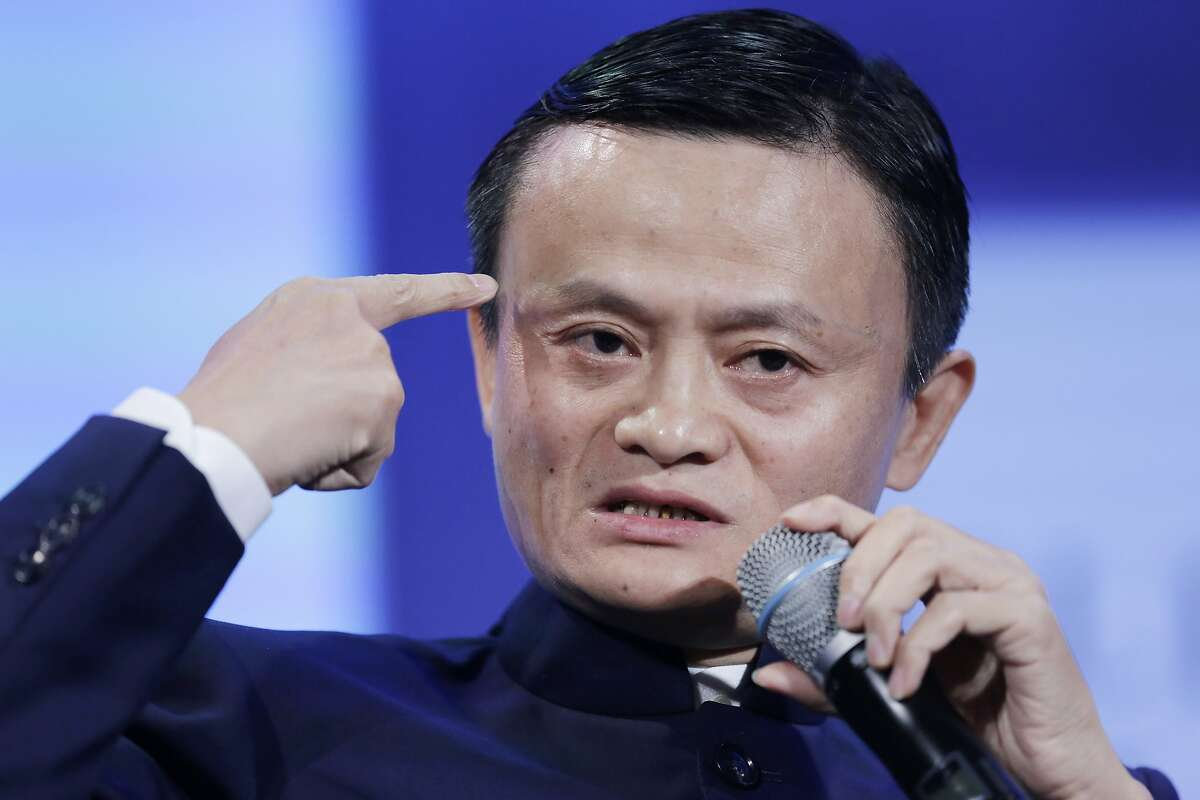 FILE - In this file photo taken Sept. 23, 2014, Jack Ma, founder of Alibaba, speaks at the Clinton Global Initiative in a session titled