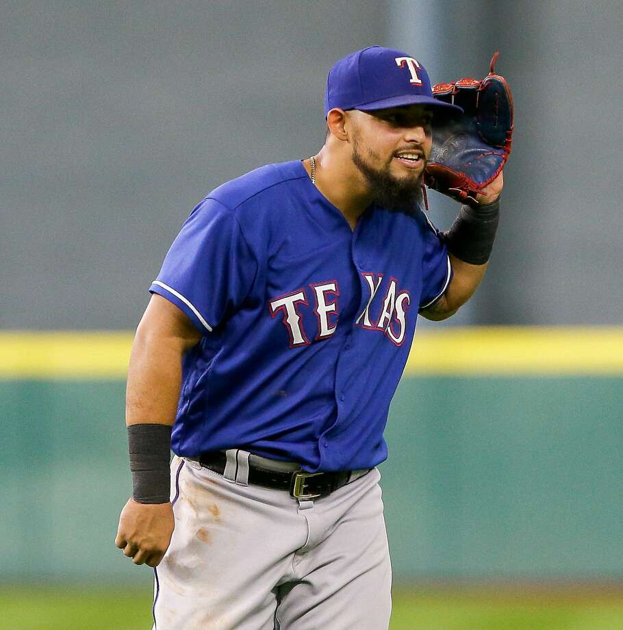 Rangers second baseman Rougned Odor began serving his suspension for punching Jose Bautista on Friday. Photo: Bob Levey, Getty Images