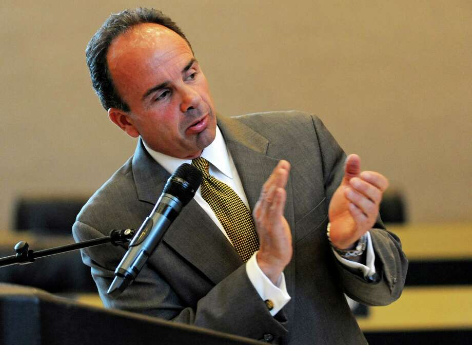 Bridgeport Mayor Joe Ganim fulfilled a campaign promise on Friday, signing a budget that will include 100 new police officers. Photo: Cathy Zuraw / Hearst Connecticut Media / Connecticut Post