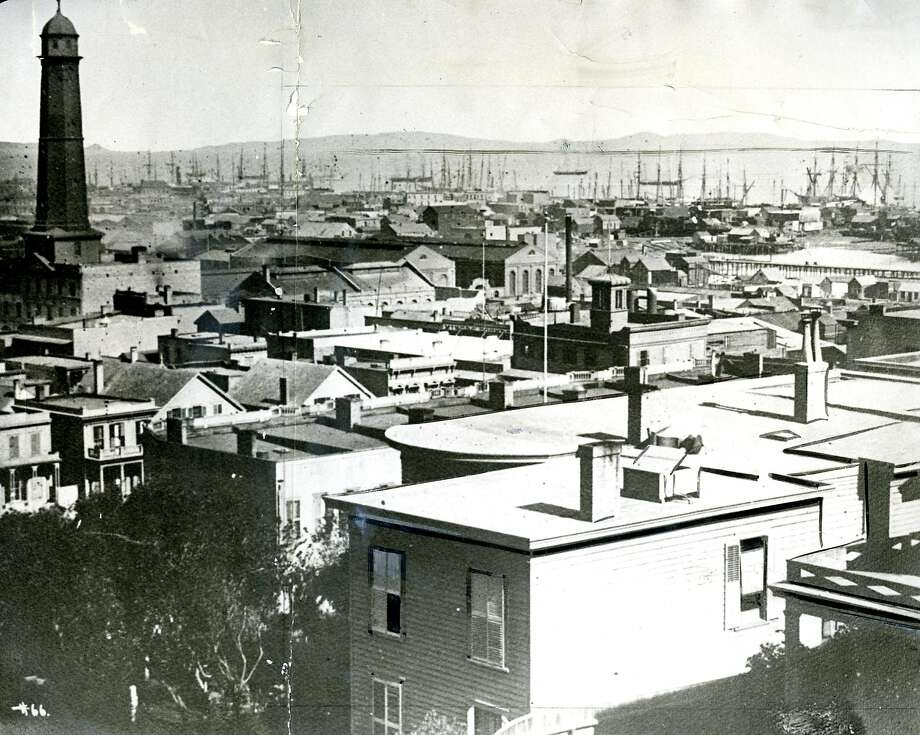 View from Rincon Hill in 1867. Photo: Chronicle Archive, The Chronicle