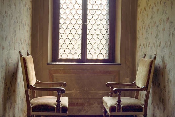 """Dale Goffigon, """"Two Chairs,"""" archival pigment print on cotton rag paper (Carrie Haddad Gallery)"""