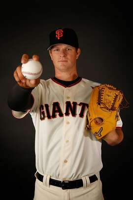 SCOTTSDALE, AZ - FEBRUARY 28:  Pitcher Matt Cain #18 of the San Francisco Giants poses for a portrait during spring training photo day at Scottsdale Stadium on February 28, 2016 in Scottsdale, Arizona.  (Photo by Christian Petersen/Getty Images)