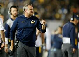 PASADENA, CA - OCTOBER 22:  Head coach Sonny Dykes of the California Golden Bears looks towards the field during the game against the UCLA Bruins at the  Rose Bowl on October 22, 2015 in Pasadena, California.  (Photo by Sean M. Haffey/Getty Images)