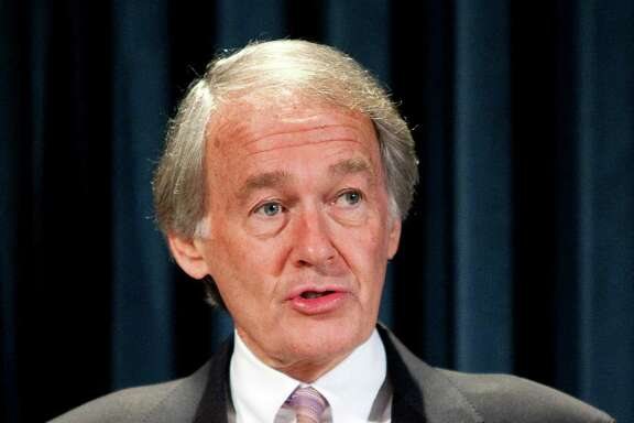 U.S. Representative Ed Markey, a Democrat from Massachusetts, speaks before the signing of a moratorium on mining in the area of the Grand Canyon in Washington, D.C., U.S., on Monday, Jan. 9, 2012. U.S. Interior Secretary Ken Salazar imposed a 20-year ban on new uranium and other hardrock mining near the Grand Canyon National Park to protect the Colorado River basin. Photographer: Joshua Roberts/Bloomberg *** Local Caption *** Ed Markey