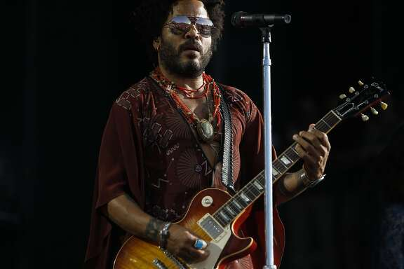 Lenny Kravitz performs at the Bottle Rock 2016 festival in Napa, Calif. on May 27, 2016.