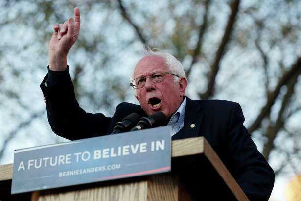 Democratic presidential candidate Sen. Bernie Sanders, I-Vt., during a campaign rally on New Haven Green on April 24.