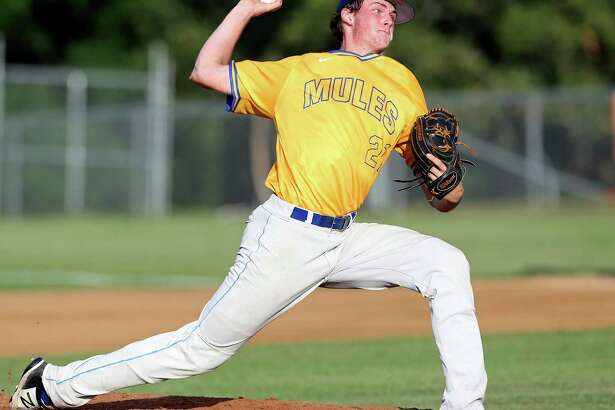 Highly touted prospect Forrest Whitley of Alamo Heights struck out 15 in the Mules' 2-1 victory over the Calallen Wildcats in the opener of the Region IV-5A semi's.