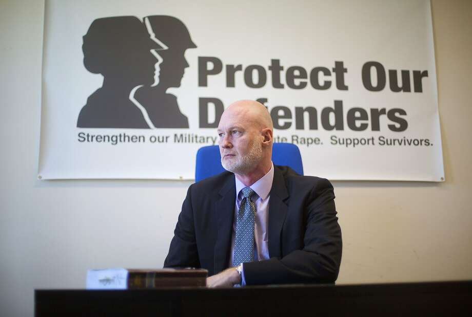 FILE - In this April 15, 2016 file photo, Retired Air Force Col. Don Christensen is seen in his office at Protect Our Defenders (POD), a national organization solely dedicated to addressing the epidemic of rape and sexual assault in the military, in Washington. The Pentagon is relying on information it won't make public to dispute an Associated Press investigation that found the military misled Congress about sexual assault cases to blunt support for Senate legislation. AP's investigation centered on internal military records obtained last year through the Freedom of Information Act by the advocacy group Protect Our Defenders. (AP Photo/Pablo Martinez Monsivais, File) Photo: Pablo Martinez Monsivais, Associated Press