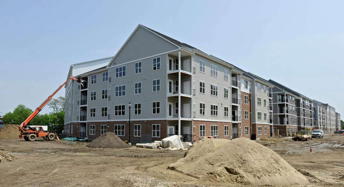 The Kennedy Flats apartment community being built in downtown Danbury which is the fastest-growing of Connecticut's 10 largest cities and towns, showing a population increase of more than 2 percent between July 2010 and July 2012, according to new figures released by the U.S. Census Bureau. Wednesday, May 25, 2016, in Danbury, Conn.