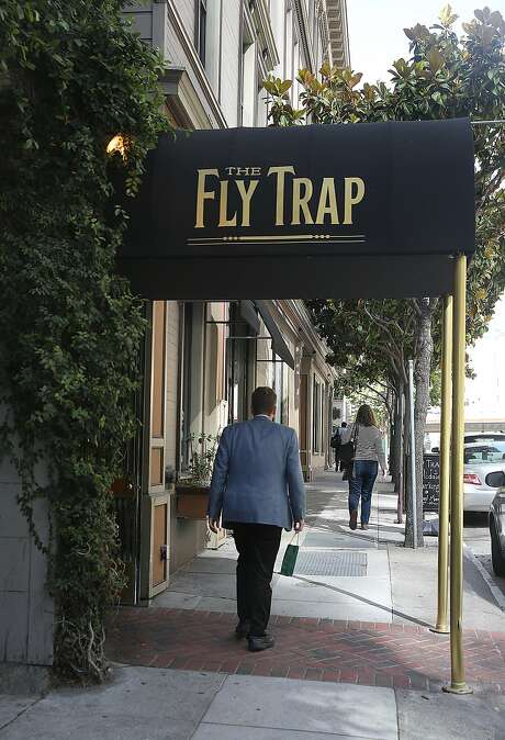 With its friendly service and prices, the Fly Trap on Folsom and Second streets offers a good neighborhood spot for cocktails or dinner. Photo: Liz Hafalia, The Chronicle