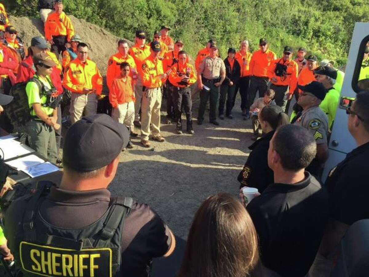 More than 65 law enforcement and search and rescue personnel are on the ground and water searching for Pearl Pinson on Saturday morning on May 28. The search area is approximately 25 square miles in the Willow Creek area.