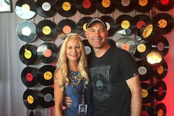 JaM Cellars owners Michele and John Truchard at BottleRock's JaMPad seen on 28, May, 28, 2016 in Napa, Calif.
