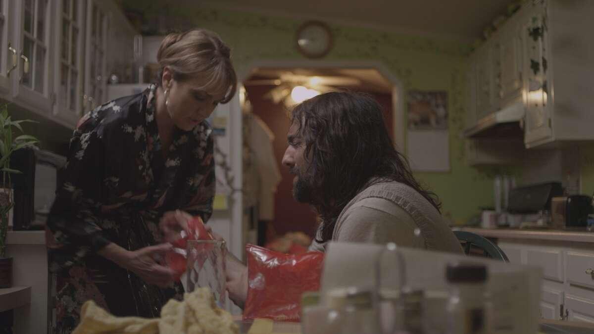 """Benita Zahn and Raymond Turturro in """"Hobo Heyseus"""" (photo courtesy Jon Russell Cring)"""