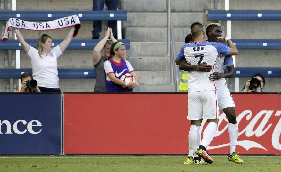 U.S. forward Gyasi Zardes scored twice against Bolivia. Photo: Colin E. Braley, Associated Press