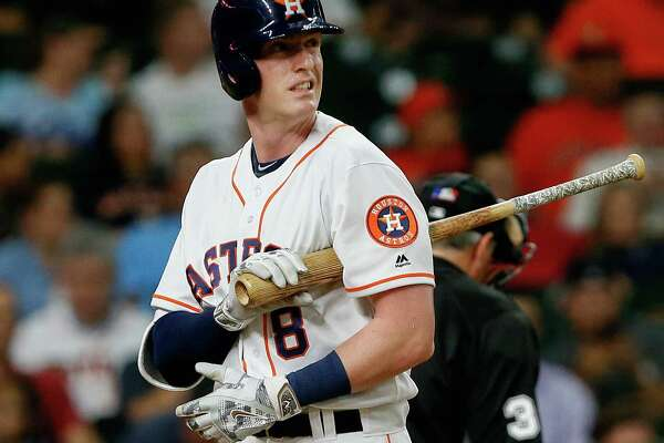The Astros have not gotten much production from third basemen this season, but Colin Moran helped their cause Friday, collecting two hits against the Angels.
