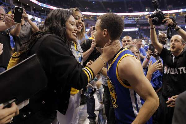 18d33d6afc0 3of15Stephen Curry leans in to kiss his wife Ayesha Curry after the Golden  State Warriors defeated the Oklahoma City Thunder 108-101 in Game 6 of the  ...