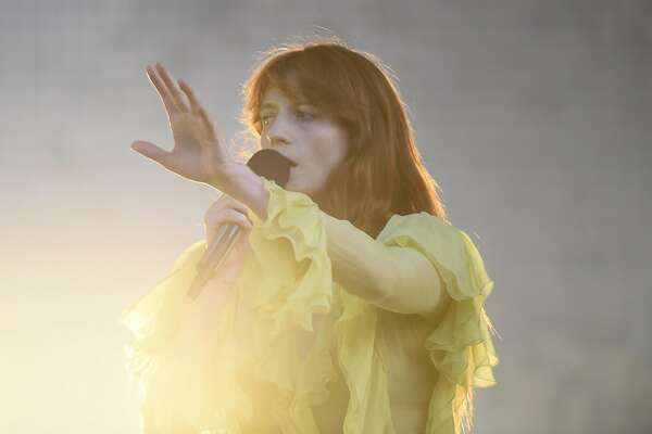 Florence + The Machine performs as the final act of day two on the Jam Cellars stage at the BottleRock 2016 festival in Napa, Calif. on Saturday, May 28, 2016.