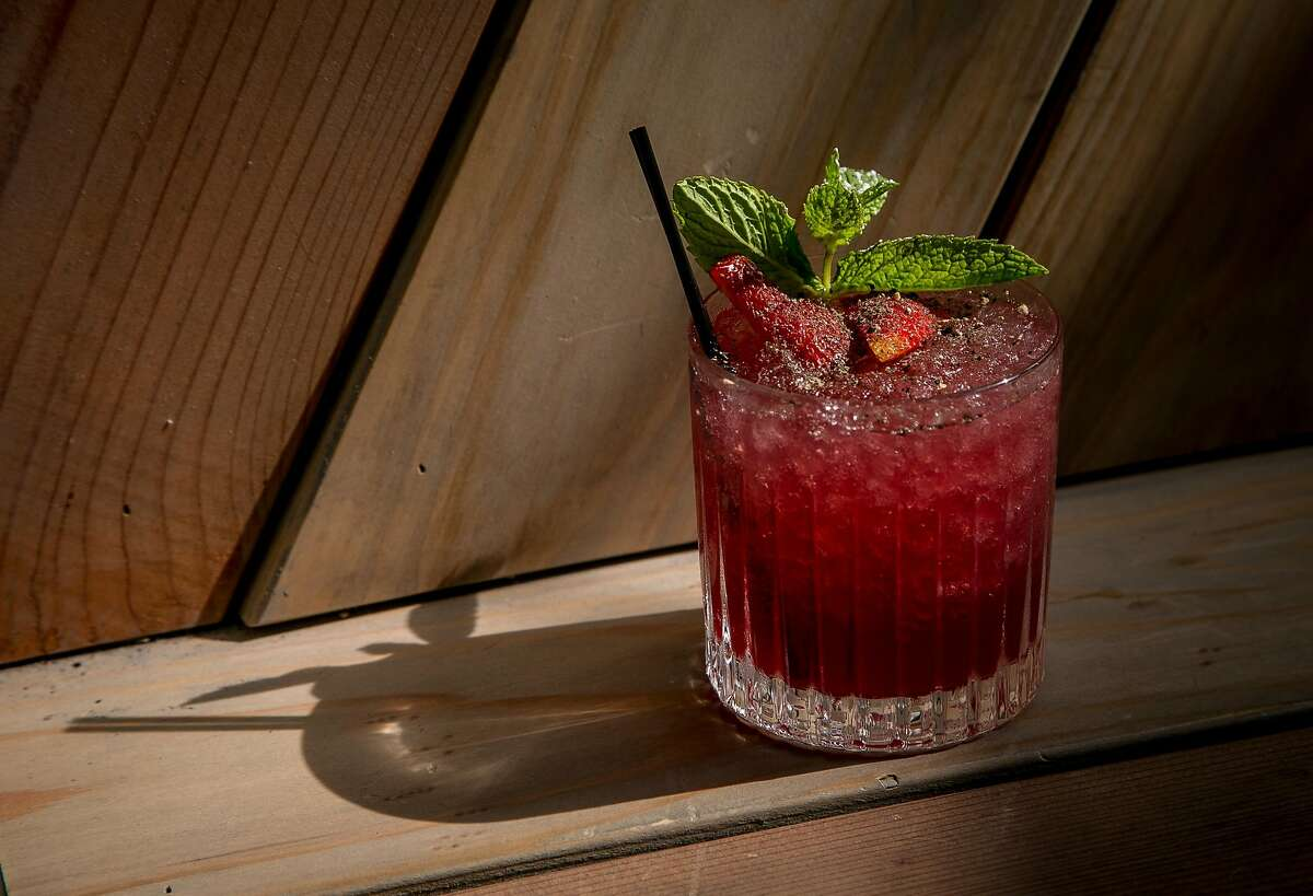 The Strawberry Hill cocktail at Horsefeather in San Francisco, Calif., is seen on May 28th, 2016.