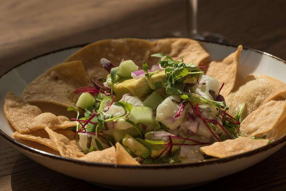 Halibut ceviche was a favorite at Horsefeather in S.F., with chermoula, avocado, cucumber. Photo: John Storey, Special To The Chronicle