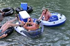 Memorial Day weekend along River Road and the Guadalupe River in New Braunfels can only mean one thing. Well, three things. People, inner tubes, and cold beverages. Here is a look at tubers on the Guadalupe Saturday, May 28, 2016.