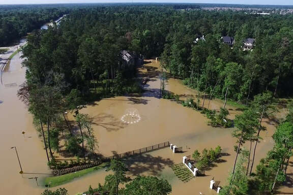 Heavy rains Friday flooded many areas across The Woodlands. Click the gallery to see drone photos of the soaked city.