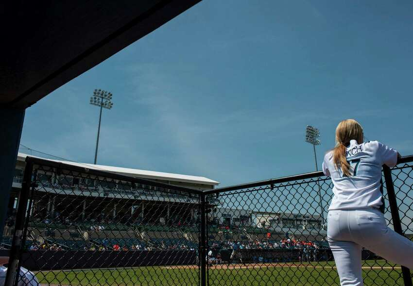 The Bridgeport Bluefish with softball star Jennie Finch as guest manager against the Southern Maryland Blue Crabs during a baseball game played at the Ballpark at Harbor Yard, Bridgeport, CT on Sunday, May 29, 2016.