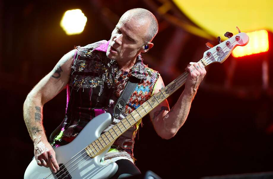 Flea and the Red Hot Chili Peppers will close the show. Photo: Michael Noble Jr., The Chronicle