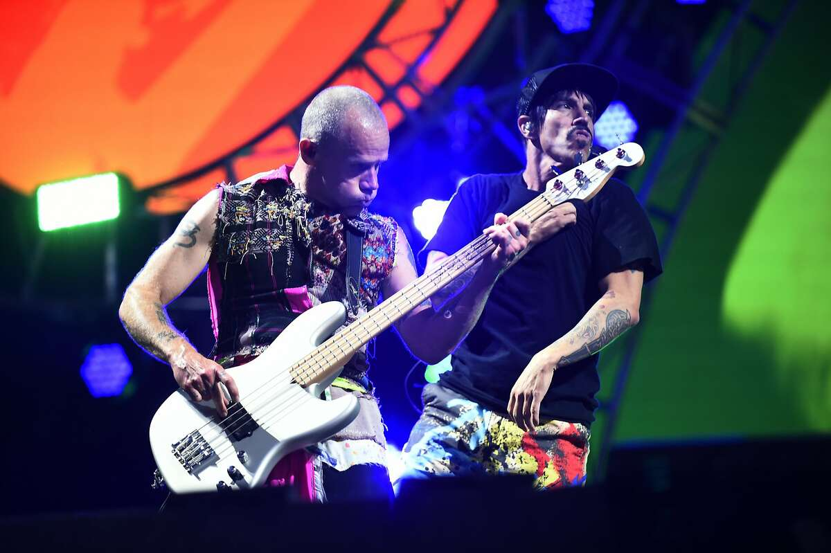 The Red Hot Chili Peppers perform as the final headliner at BottleRock 2016 in Napa, Calif. on Sunday, May 29, 2016.