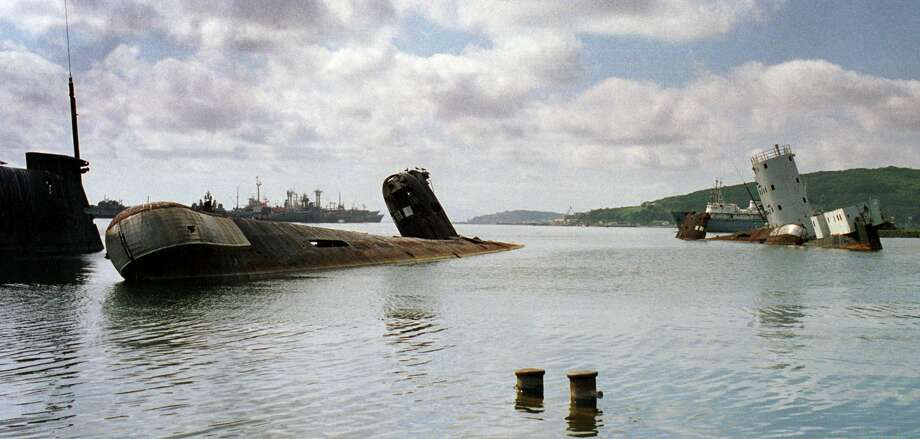 "The ""submarine cemetery"" in Vladivostok, Russia circa 2000. Photo: Getty Images"