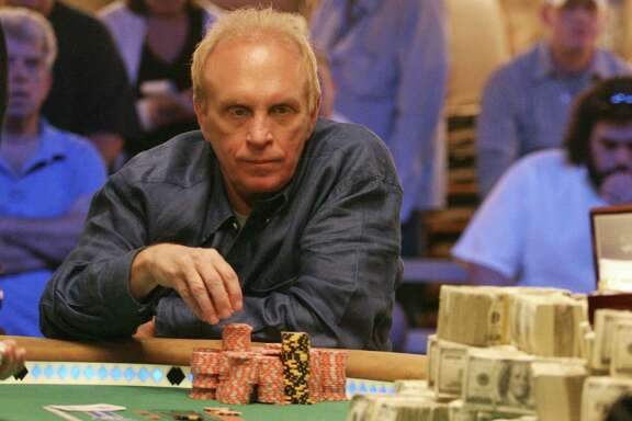 Chip Reese gathers a bet during the heads-up play of the $50,000 buy-in H.O.R.S.E. tournament at the World Series of Poker in Las Vegas, on, July 15, 2006.