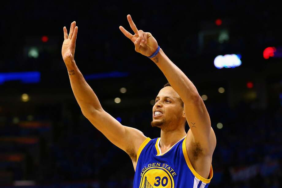 OKLAHOMA CITY, OK - MAY 28:  Stephen Curry #30 of the Golden State Warriors gestures during the second half against the Oklahoma City Thunder in game six of the Western Conference Finals during the 2016 NBA Playoffs at Chesapeake Energy Arena on May 28, 2016 in Oklahoma City, Oklahoma. NOTE TO USER: User expressly acknowledges and agrees that, by downloading and or using this photograph, User is consenting to the terms and conditions of the Getty Images License Agreement.  (Photo by Maddie Meyer/Getty Images) Photo: Maddie Meyer