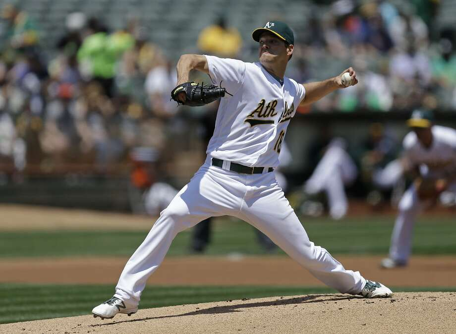 Oakland Athletics pitcher Rich Hill works against the Detroit Tigers in the first inning of a baseball game, Sunday, May 29, 2016, in Oakland, Calif. (AP Photo/Ben Margot) Photo: Ben Margot, Associated Press