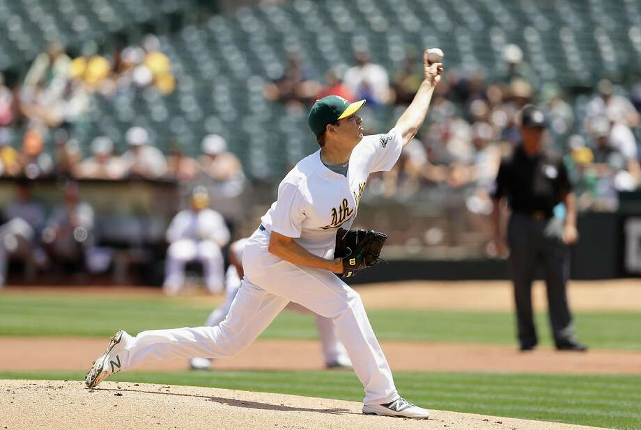 OAKLAND, CA - MAY 29:  Rich Hill #18 of the Oakland Athletics pitches against the Detroit Tigers in the first inning at the Coliseum on May 29, 2016 in Oakland, California.  (Photo by Ezra Shaw/Getty Images) Photo: Ezra Shaw, Getty Images